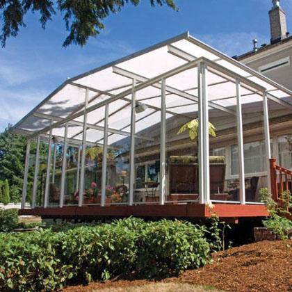 Pictures of sunrooms solariums patio covers pool for Plexiglass pool enclosure