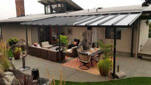 Black Beam Glass Patio Cover-02